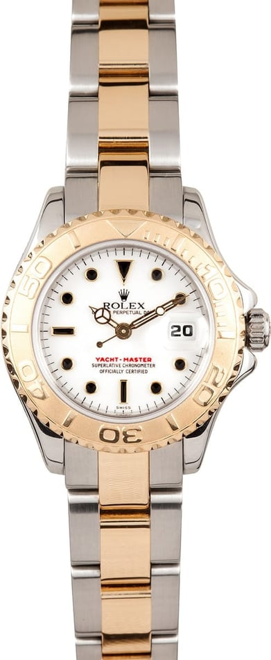 Pre-owned Rolex Yachtmaster Ladies 18k Gold & Steel