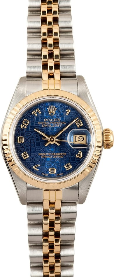 Lady Rolex Datejust 69173 Blue Dial