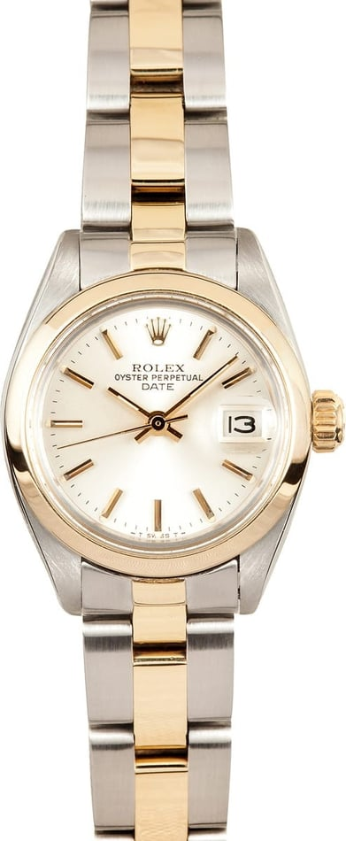 Rolex Ladies Steel & Gold Date 6916
