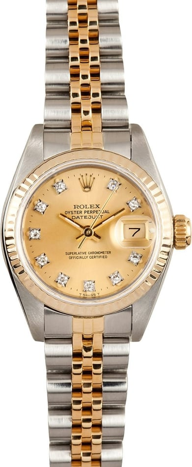Lady Rolex Datejust Two Tone 69173 1