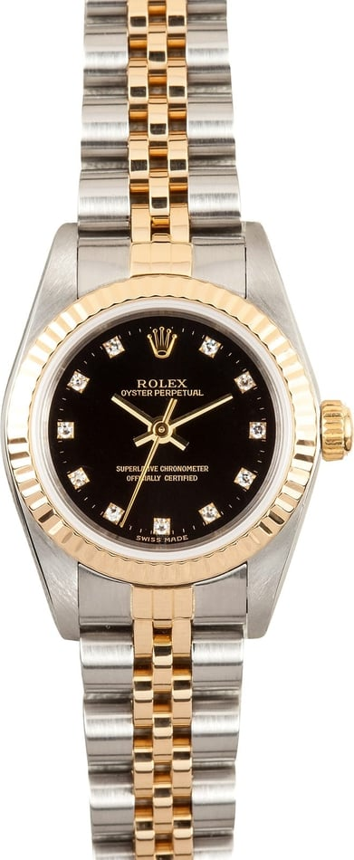 Ladies Oyster Perpetual Diamond Dial
