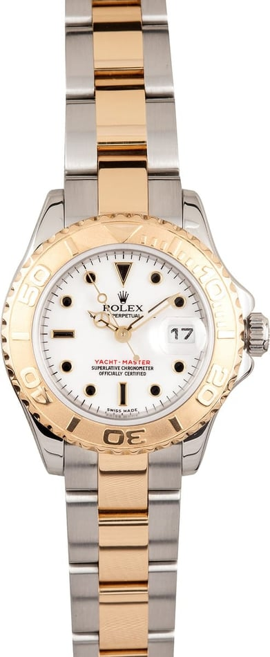 Used Rolex Yachtmaster Ladies 18k Gold & Steel 169623