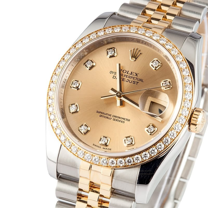 Rolex Datejust Diamond Dial & Bezel 116243