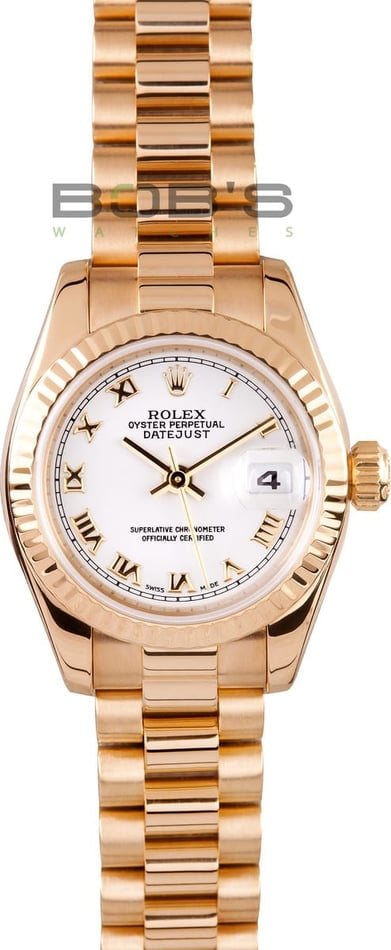 Rolex Ladies President Gold