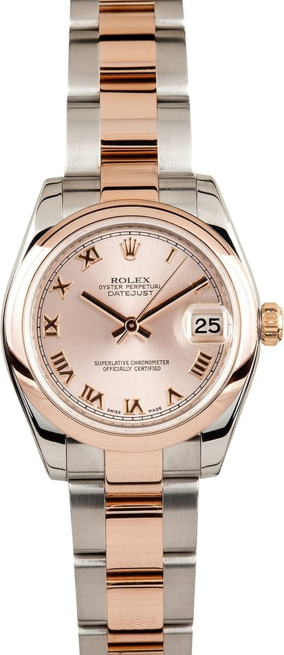 Ladies Rolex Rose Gold Mid-Size Watch