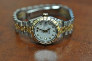 Used Ladies Rolex Datejust Diamond Dial and Bezel Watch 179313