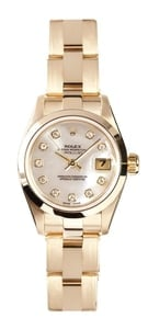 Rolex Ladies President Watch 69168, Mother of Pearl Diamond Dial
