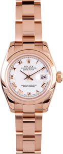 Ladies Rose Gold Datejust 179165 Certified Pre-owned