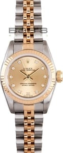 Ladies Rolex Oyster Perpetual Stainless and Gold Watch 76243