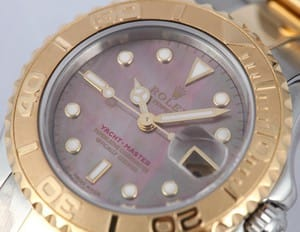 Pre-owned Rolex Yachtmaster Ladies 18k Gold & Steel 169623