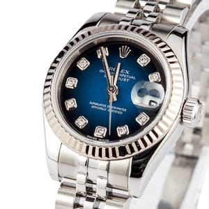 Ladies Rolex DateJust Stainless Jubilee 179174