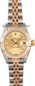 Ladies Rolex Datejust Watch 79173 Diamond Dial