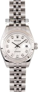 Ladies Rolex Datejust New Model Diamond Dial 179174