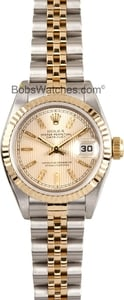 Used Ladies Rolex Oyster Perpetual Stainless and Gold Watch 69173