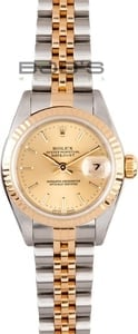 Ladies Pre Owned Rolex Oyster Perpetual Stainless and Gold Watch 79173