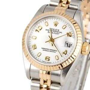 Ladies Rolex Datejust 79173 White Dial