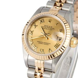 Ladies Rolex Datejust 79173 Champagne Roman