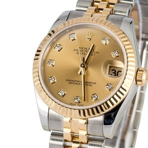 PreOwned Rolex Mid-Size Datejust 178273 Diamonds