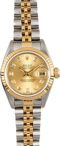 Rolex Lady Datejust 79173 Champagne Diamond Dial
