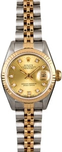 Women's Rolex Datejust 69173 Diamonds