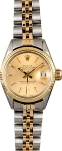 Vintage Ladies Rolex Datejust 6517 Two Tone Jubilee