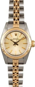 Women's Rolex Oyster Perpetual 67193 Champagne Dial