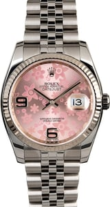 PreOwned Rolex Datejust 116234 Pink Floral Dial