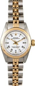 Rolex Oyster Perpetual 67193 Two Tone Ladies Watch