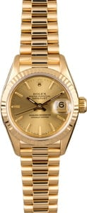 Rolex Lady Presidential 69178 Fluted Bezel
