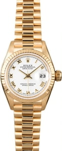 Rolex Ladies President 79178 White Roman