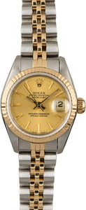 Used Rolex Ladies Datejust 69173 Champagne