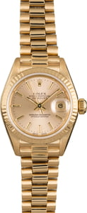 Pre Owned Rolex Ladies Datejust 69178 Champagne President