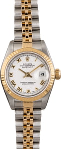 Used Rolex Lady Datejust 79173 White Roman Dial