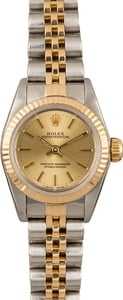 Used Rolex Ladies Oyster Perpetual 67193 Champagne