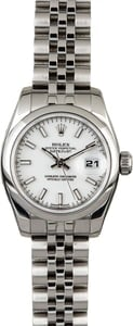 Pre Owned Rolex Ladies Datejust 179160 White Dial