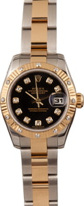 Pre-Owned Rolex Ladies Datejust 179313 Diamond Dial & Bezel