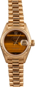Rolex Ladies Datejust 69178 Tiger Eye Dial