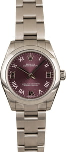 Used Rolex Oyster Perpetual 177200 Red Grape Dial
