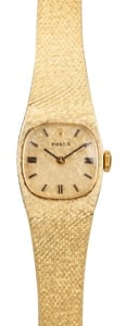 Yellow Gold Vintage Ladies Rolex Cocktail Watch