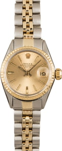 Vintage Rolex Ladies Datejust 6517 Two Tone