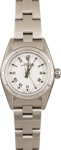 Ladies Rolex Oyster Perpetual 76030 White Roman
