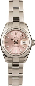 Pre-Owned Rolex Datejust 179160 Pink Luminous Index Dial