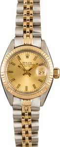 Pre-Owned Rolex Lady Date 6917 Champagne