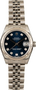 Pre-Owned Rolex Datejust 178274 Blue Diamond Dial