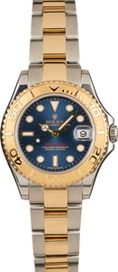Pre-Owned Rolex Mid-Size Yacht-Master 168623 Blue Dial
