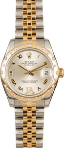 Pre-Owned Rolex Mid-size Datejust 178343 Diamond Bezel