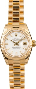 Rolex Ladies President 179178 White Index Dial
