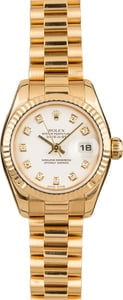 Pre-Owned Rolex Lady President 179178