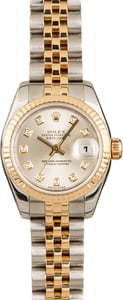 Pre-Owned Rolex Datejust 179173 Silver Diamond Dial