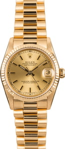 Rolex Mid-Size Datejust 68278 Yellow Gold